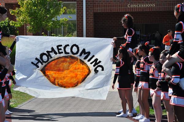 Homecoming Football Cheerleaders LFA vs St. Joseph September 26, 2015