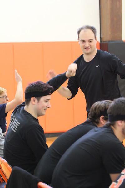 Seniors v. Faculty Volleyball